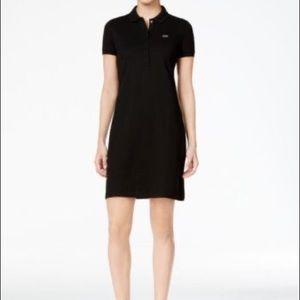 Lacoste little black tennis polo dress